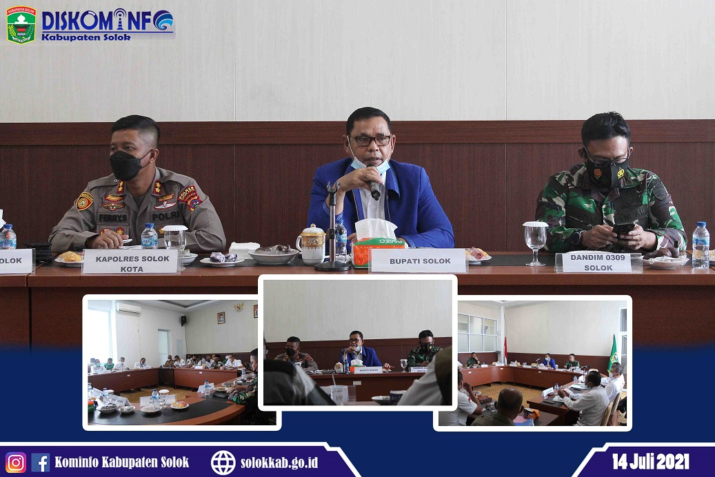 Sambut Hari Raya Idul Adha 1442 H di Masa Pandemi Covid-19, Bupati Solok Pimpin Forum Diskusi Politik Pemerintah Kabupaten Solok Tahun 2021