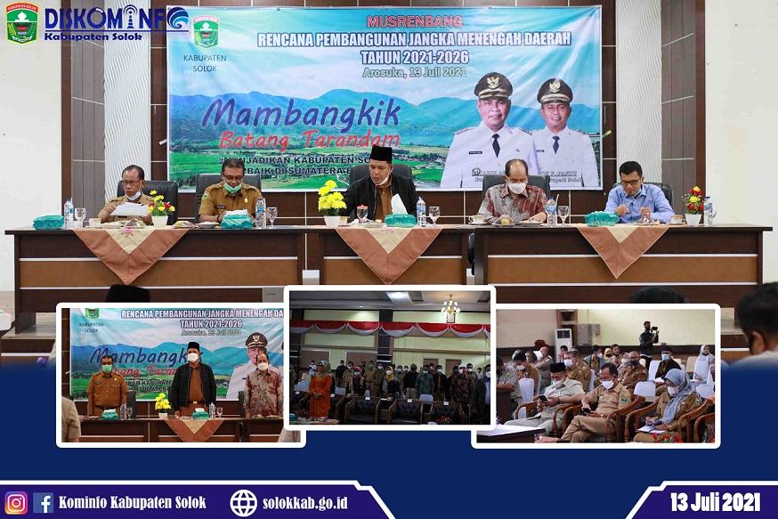 Musrenbang RPJMD Tahun 2021-2026 Resmi Dibuka, Bupati Solok : Pengelolaan Anggaran Berbasis Masyarakat