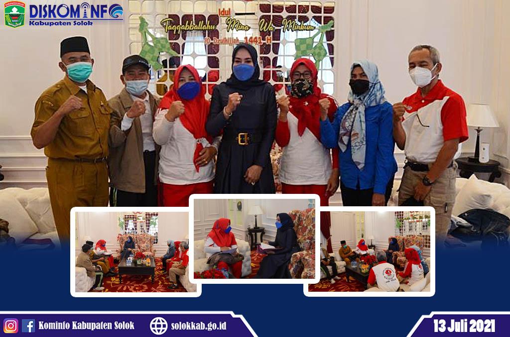 Silaturahmi Organisasi Klub Jantung Sehat dengan Ketua TP-PKK Kabupaten Solok