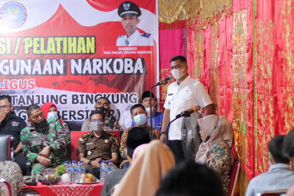 Pemerintah Nagari Tanjuang Bingkuang Canangkan Nagari Bersinar,  Wabup : Selamatkan Generasi Muda Dari Narkoba