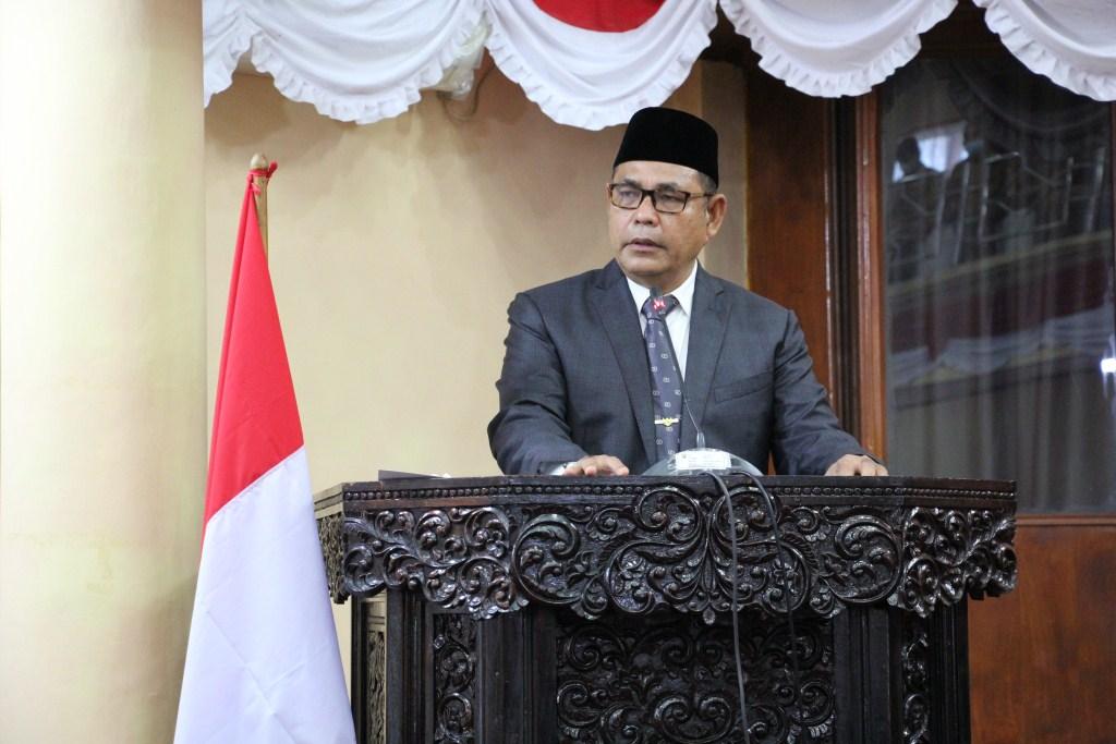 Bupati Sampaikan Pidato Perdana di hadapan Ketua dan Anggota DPRD Kabupaten Solok