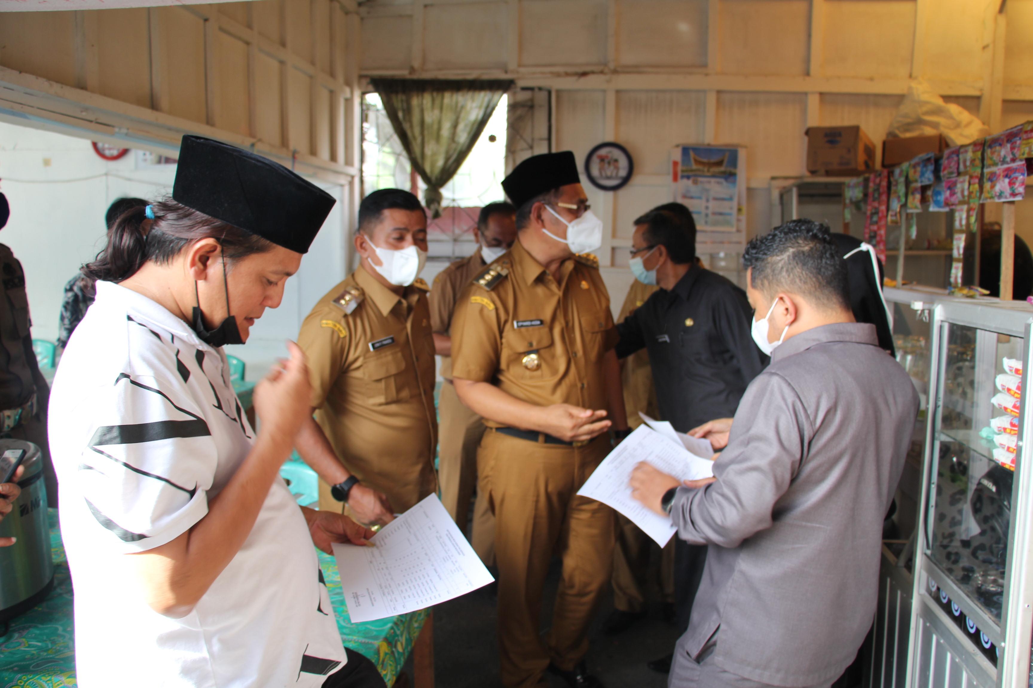 Bupati Dan Wakil Bupati Periksa Aset Pemerintah Kabupaten Solok  yang ada di Kota Solok