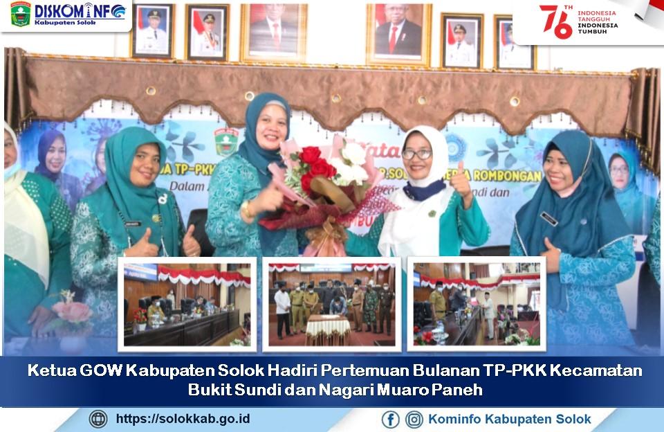 Ketua GOW Kabupaten Solok Hadiri Pertemuan Bulanan  TP-PKK Kecamatan Bukit Sundi dan Nagari Muaro Paneh