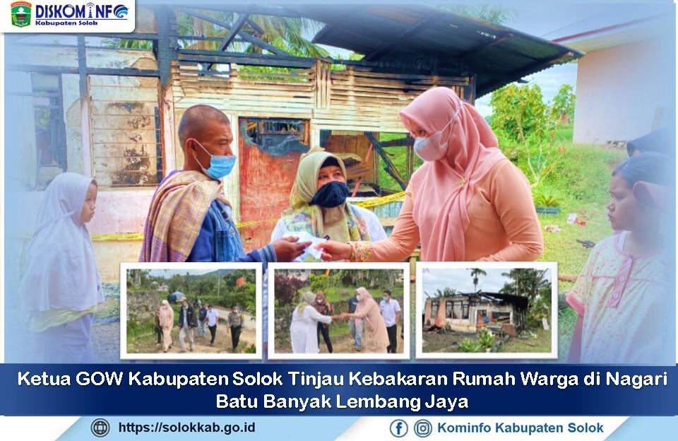 Ketua GOW Kunjungi Rumah Warga Korban Kebakaran di Batu Banyak Lembang Jaya