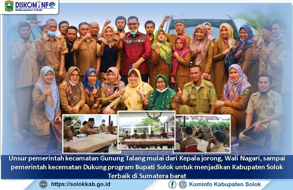Walinagari beserta Perangkat Nagari Kecamatan Gunung Talang  Bersilaturahmi dengan Bupati Solok