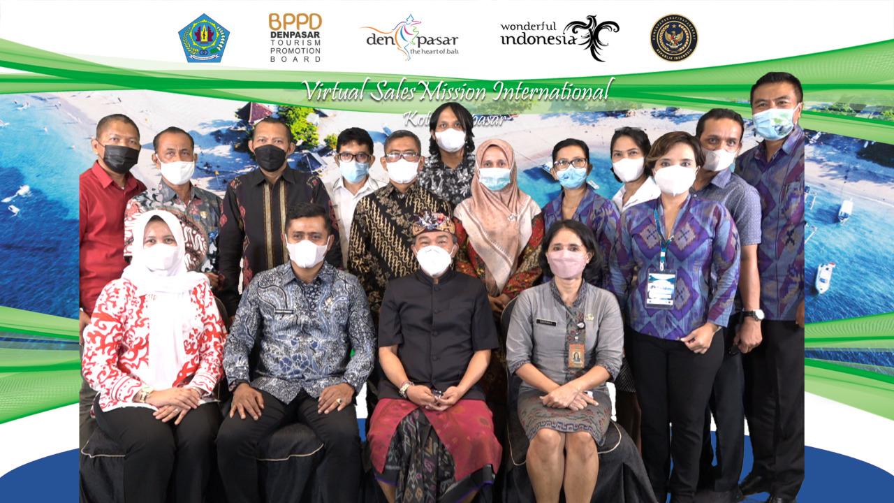 Wakil Bupati Solok Hadiri Acara Virtual Sales Mission Internasional  Di Kota Denpasar Bali